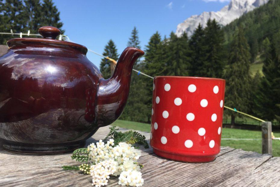 Schafgarbe und Tee in den Bergen